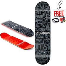 Enuff Skateboards Scramble Logo Skateboard Deck 8.25″, Black