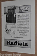 1925 RCA RADIOLA advertisement, RCA Radiola model Super-VIII cabinet radio
