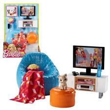 Barbie - Meubles Salon - Coin TV, Fauteuils et Accessoires