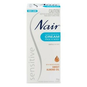 Nair Sensitive Hair Removal Cream 75g for Face & Body Gentle On Skin