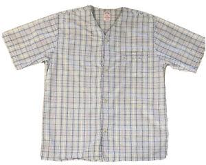 Brooks Brothers Sleep Shirt Pajama Top Men's Seersucker Check Cotton Size S