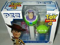 TOY STORY 4 PEZ GIFT SET MINI ALIEN & BUZZ LIGHTYEAR/ Includes 6 Rolls of Candy