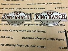 NEW FORD TRUCK KING RANCH EST 1853 GAS LID FENDER TRUNK TAILGATE EMBLEM CHROME 2