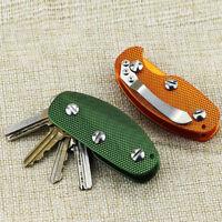 Aluminum Smart Key Holder Organizer Clip Folder Keychain Pocket Tool M8