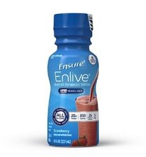 Ensure Enlive Nutritional Shake, Strawberry, 8 Ounce, Abbott 64281 - Case of 24