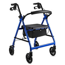 Free Post Aluminum Foldable Rollator Walking Frame Outdoor Walker Aids Mobility