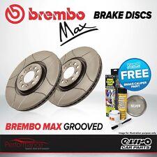 BREMBO MAX ANTERIORE VENTILATO ad alto tenore di carbonio Scanalato Dischi Freno a disco COPPIA x2 09.8642.75