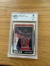 1988 89 Fleer #17 Michael Jordan BCCG 9 - Third Year Card
