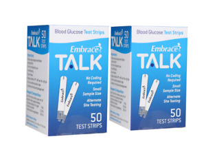 Embrace Blood Glucose Test Strips 100 Glucose Test Strips