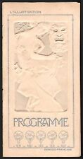 Programme Comédie française. Les femmes savantes. Molière. Mucha. 1906
