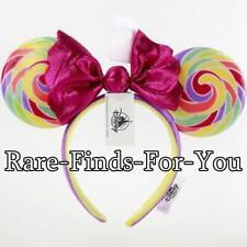 f54b4acaa92 Authentic Disney Park 2019 Minnie Mouse Lollipop Ear Candy Bow Headband  NEW TAGS