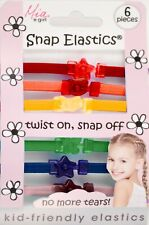 Mia Girl Snap Elastics, Hair Rubber Bands, Ponytail Holders, Hair Ties, Rainbow