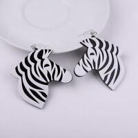 Fashion Women Zebra Earring Acrylic Resin Drop Dangle Hook Earrings Jewelry