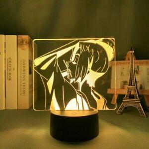 LED Night Light Samurai Champloo Figure Kid Bedroom Table Decor 3D Acrylic Lamp