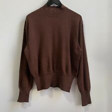 Jean Paul Gaultier Vintage Wool Sweater Mock Neck Brown