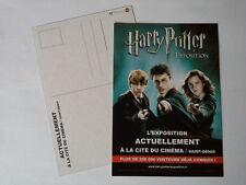 Carte postale Harry Potter l'exposition 2015 format 15X10cm rare