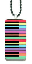 "HANDMADE 18"" COLORFUL PIANO KEYBOARD DOMINO NECKLACE (DO001)"