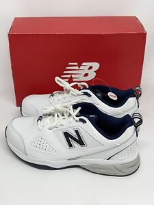 New Balance Men's 623v3 Shoes White with Navy - MX623WN3