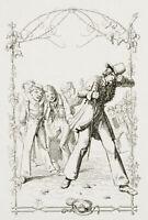 """A.SCHRÖDTER(*1805), Illust. zu Chamissos """"Peter Schlemihl"""", 1836, Rad"""