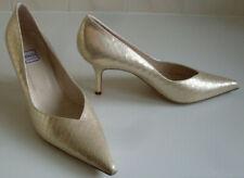 RENATA Italian Gold Pointed Toe Pump,Heels,Court Shoes Size EU 41 UK 8 US 10 NEW