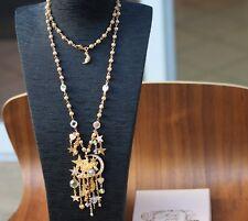 Kirks Folly Fairy Pixie Palace Castle Moon Star Rhinestone Gold-Tone Necklace