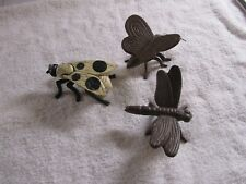 New Listing3 Cast Iron Garden Bugs Horse Fly Insects