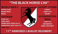 11TH ARMORED CAVALRY REGIMENT 3'X5' 2PL POLYESTER 1-SIDED INDOOR 4 GROMMET FLAG