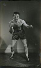PHOTO VINTAGE : MARCEL CERDAN BOXE SPORT 1950 PORTRAIT 03 - tirage argentique