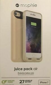 Mophie Juice Pack Air Battery for iPHONE  7 Wireless Charging Case Gold