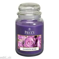 Price's Candles Large Jar Scented Candle - Damson Rose