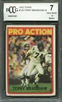 1972 topps #120 TERRY BRADSHAW IA pittsburgh steelers BGS BCCG 7