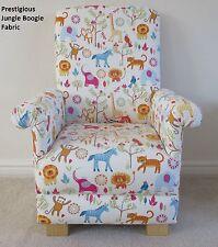 Prestigious Jungle Boogie Fabric Child's Chair Animals Kids Armchair Lions Tiger