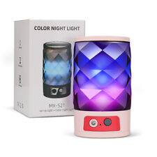 Bluetooth Speaker LED Night Light Desk Lamp Colorful USB Rechargeable Romantic
