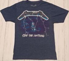 Metallica Ride The Lightning Bravado T-Shirt Mens Small Blue Short Sleeve Tee