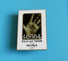 hard rock cafe Calling Nelson Mandela 46664 2008 pin badge