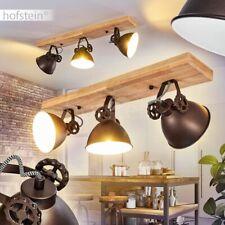 Decken Lampen Retro Wohn Schlaf Raum Leuchten 3-flammig Flur Strahler Holz/braun