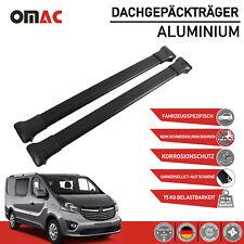 Dachträger Gepäckträger für Opel Vivaro 2014-2020 Aluminium Schwarz TÜV ABE