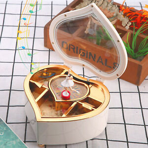 Jewellery Music Box With Dance Rotary Girl Musical Childs Heart‑Shaped Gifts
