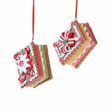 Raz Gingerbread Cookie Ornaments, set of 2