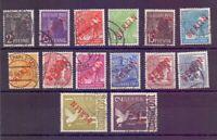 Berlin 1949 - Rotaufdruck - MiNr.21/34 gestempelt geprüft- Michel 900,00 € (155)