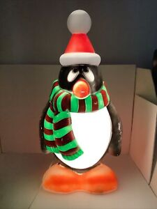 """Vintage Blow Mold Chilly Willy The Penguin General Foam 28"""" Christmas"""