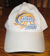 Beer Bud Light Golden Wheat Adjustable Khaki Tan Brown Baseball Cap Hat