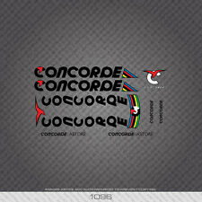 01096 Concorde Astore Bicycle Stickers - Decals - Transfers - Black