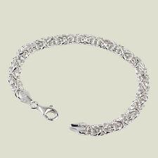 Sterling Silver 8.5 Inch Byzantine Bracelet - 8.9 Grams Excellent value