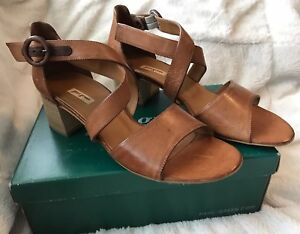 New Paul Green Cuoio Quarter Strap Sandal Sally Heel Women's US 10.5 UK 8 Brown