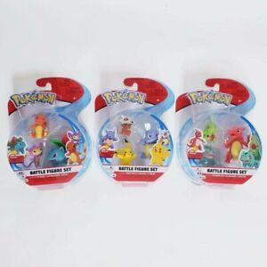 Pokemon Battle Figure Set - Ivysaur + Wartortle + Charmeleon + Pikachu Starters