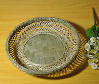 bamboo basket bowl handcraft woven duel-layer fruit food busket storage 手工编织竹篮