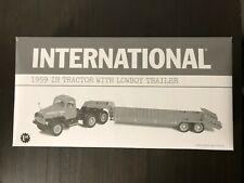 "First Gear-"" INTERNATIONAL "" 1959 IH Tractor with Lowboy Trailer"