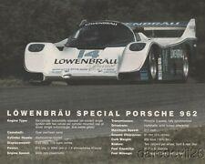 1984 Al Holbert Lowenbrau Special Porsche 962 IMSA GT postcard