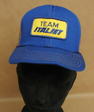 Vintage Team Italjet MX Motorcycle Motocross Racing Snapback Trucker Mesh Hat